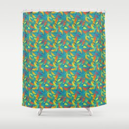 Paradise Tango in Aqua Shower Curtain