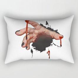 Bloody Zombie Hand Rectangular Pillow