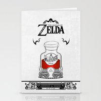 majora Stationery Cards featuring Zelda legend - Red potion  by Art & Be