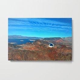 Hoover Dam Lake Mead Arizona Nevada America Metal Print