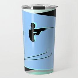 Biathlon silhouettes Travel Mug