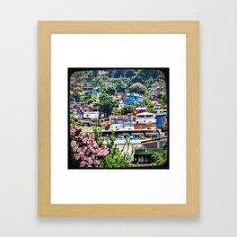 Favela Landscape Framed Art Print