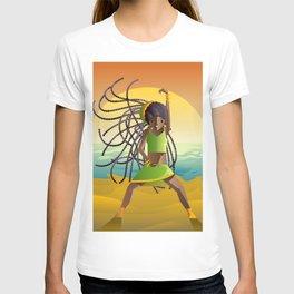 dancehall samba brazilian dancer in the beach T-shirt