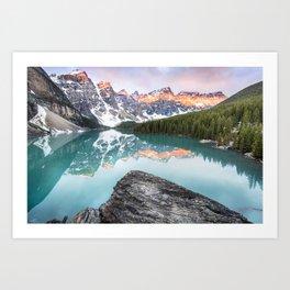 Moraine Lake Sunrise Art Print