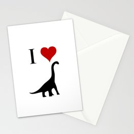 I Love Dinosaurs - Brachiosaurus Stationery Cards
