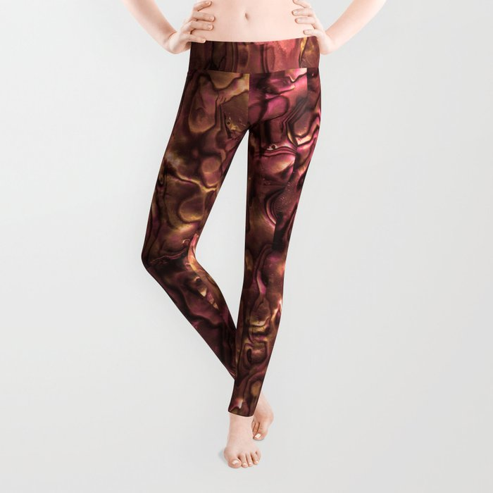 Abalone Shell | Paua Shell | Copper and Pink Tint Leggings