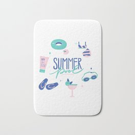 Summer Pool Bath Mat