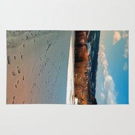 Winter wonderland and village skyline | landscape photography Rug