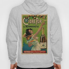 1889 Vintage Pure Cider of Normandy, Rotrou frères (Perrier) By Pichot Poster Art Hoody