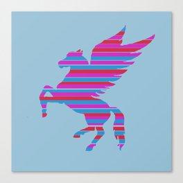 Pegasus Stripes Canvas Print