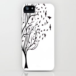 Tree Birds iPhone Case
