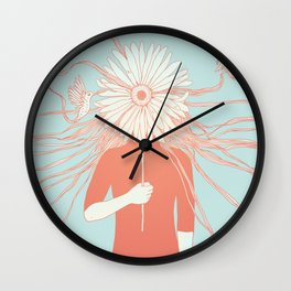 Flower Girl (Life and the Fragile Presence of Beauty) Wall Clock