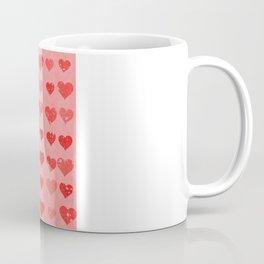Pink Valentines Love Hearts Coffee Mug