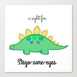 Stego-sore-eyes Canvas Print