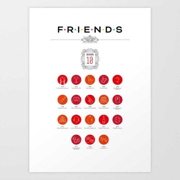 Tribute to Friends: Season 10 Art Print