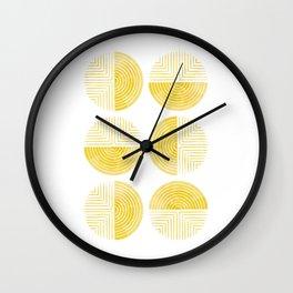 Labyrinth - Honey Wall Clock