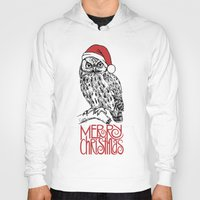 merry christmas Hoodies featuring merry christmas by Vickn