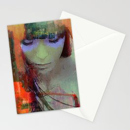 Touch right in the heart by your love Stationery Cards