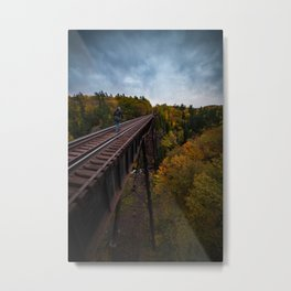 Bridge over Trestle Falls Metal Print