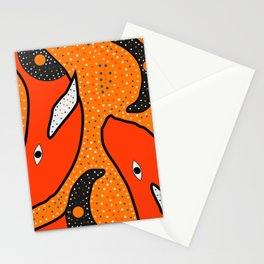Whales - aboriginal Stationery Cards