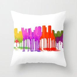 Tampa, Florida Skyline - Puddles Throw Pillow