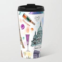 Voyage à Paris (Watercolor) Travel Mug