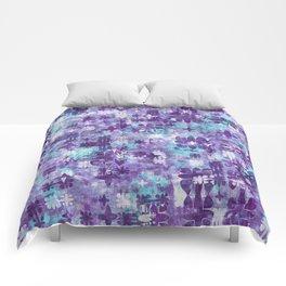 Purple Grime Foral Comforters