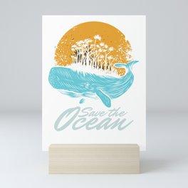 Ocean Day Marine Aquatic Animals Save The Ocean Sea Life Gift Mini Art Print