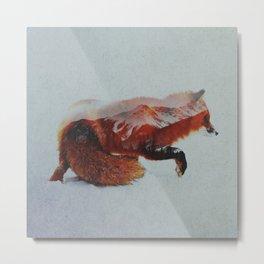 Wandering Fox Metal Print