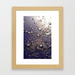 Bubbles Phone Framed Art Print
