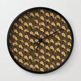 nasturtium in the garden Wall Clock