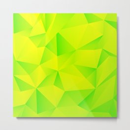 Geometry Lime Extraction Metal Print