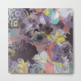 Modern abstract colorful geometric floral pattern Metal Print