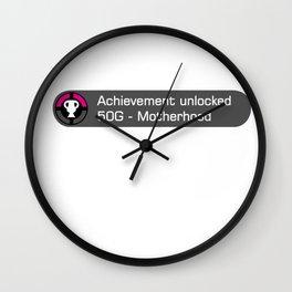 Achievement unlocked motherhood Wall Clock