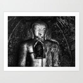 Buddha and a hidden gem Art Print