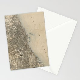 Vintage Map of Chicago (1899) Stationery Cards