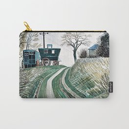 12,000pixel-500dpi - Eric Ravilious - Caravans - Digital Remastered Edition Carry-All Pouch