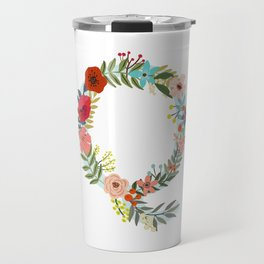 Monogram Letter Q Travel Mug