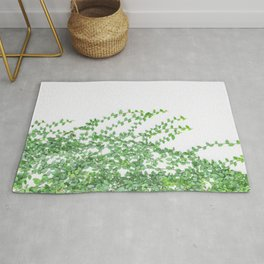 Green creepers climbing the wall Rug