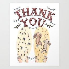 Thank You Art Print