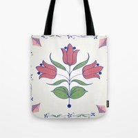 tulip Tote Bags featuring Tulip by Rceeh
