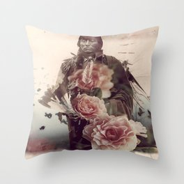 Flowers Will Bloom, Ravens Will Fly Throw Pillow