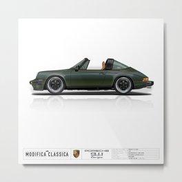 Porsche 1978 911 SC Targa Oak Green Metallic Metal Print