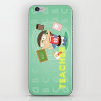 teacher iPhone & iPod Skins featuring teacher by Alapapaju
