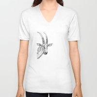 clockwork V-neck T-shirts featuring clockwork sable by vasodelirium