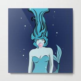 Bubblegum Mermaid Metal Print