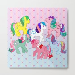 g1 my little pony twinkle eye ponies Metal Print