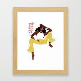 hot girl Framed Art Print
