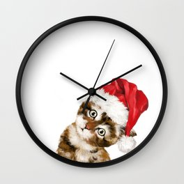 Christmas Baby Cat Wall Clock