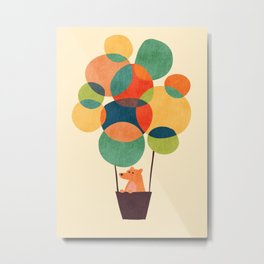 Whimsical Hot Air Balloon Metal Print